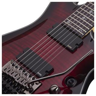 Schecter Damien Elite-6 FR Electric Guitar, Crimson Red Burst