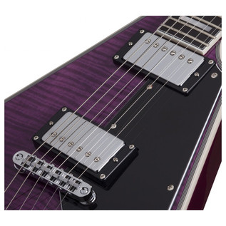 Schecter V-1 Custom Electric Guitar, Trans Purple