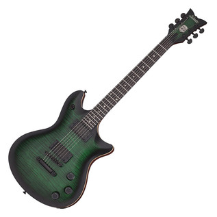 Schecter Tempest 40th Anniversary Electric Guitar, Green Burst Pearl