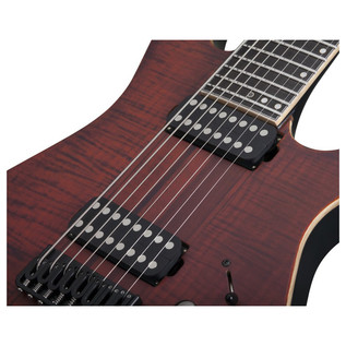 Schecter Banshee Elite-8 Electric Guitar, Cat's Eye Pearl
