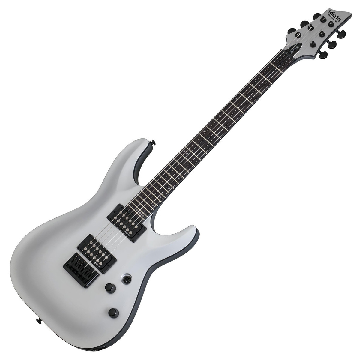 schecter stealth c 1 electric guitar satin silver at gear4music. Black Bedroom Furniture Sets. Home Design Ideas