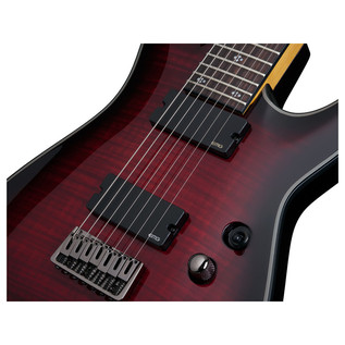 Schecter Damien Elite-7 Electric Guitar, Red