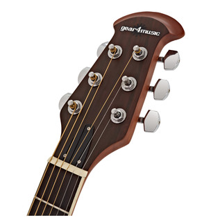 Deluxe Roundback Electro Acoustic Guitar by Gear4music, Natural