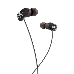 Yamaha EPHW22 Bluetooth Earphones with Remote and In-Line Mic, Black