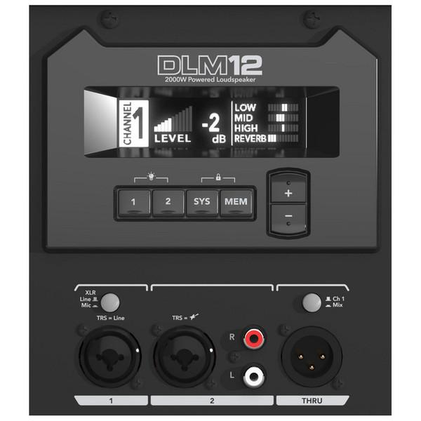 Mackie DLM12 Active PA Speaker (Rear Panel)