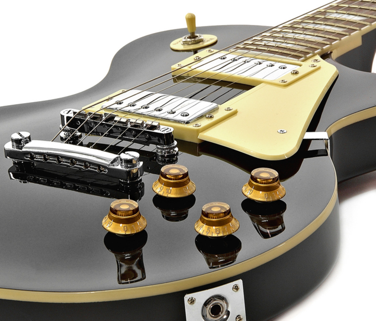 new jersey electric guitar by gear4music black b stock at gear4music. Black Bedroom Furniture Sets. Home Design Ideas
