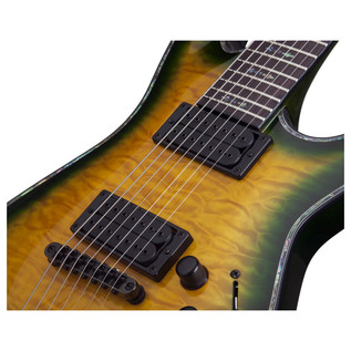 Schecter Hellraiser C-7 Passive Electric Guitar, Dragon Burst