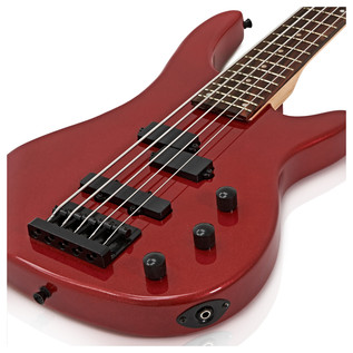 Lexington 5 String Electric Bass Guitar + Amp Pack, Red