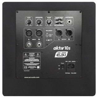 ESI aktiv 10s Active Subwoofer - Rear