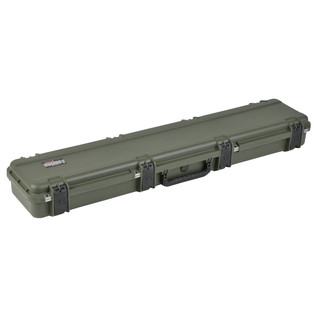 SKB iSeries 4909-5 Waterproof Case (Empty), Olive Drap - Angled Closed 2