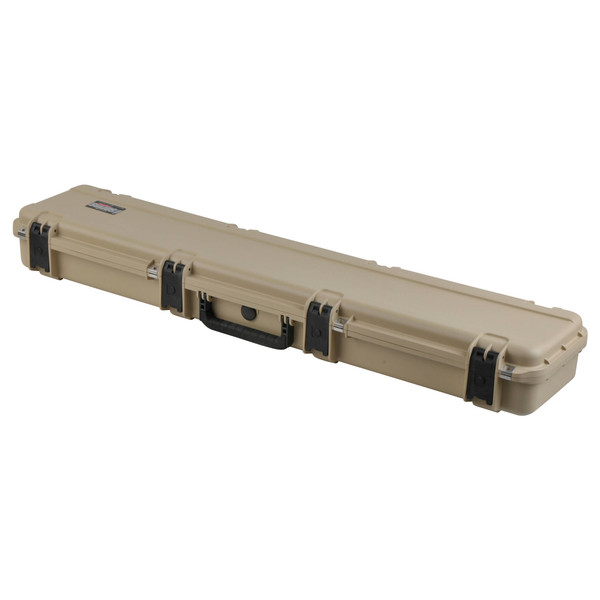 SKB iSeries 4909-5 Waterproof Case (Empty), Tan - Angled Closed