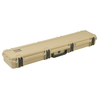 SKB iSeries 4909-5 Waterproof Case (With Layered Foam), Tan - Angled Closed 2