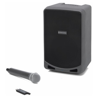 Samson XP106W Portable PA System with Wireless Microphone - Front