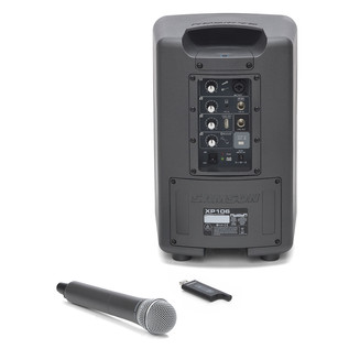 Samson XP106W Portable PA System with Wireless Microphone - Rear