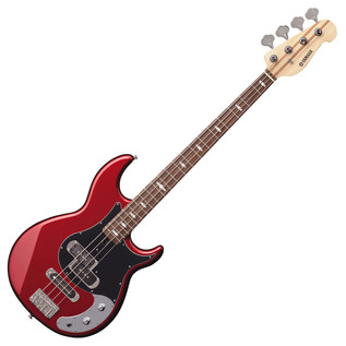Yamaha BB424X 4-String Electric Bass Guitar, Red Metallic - Angled