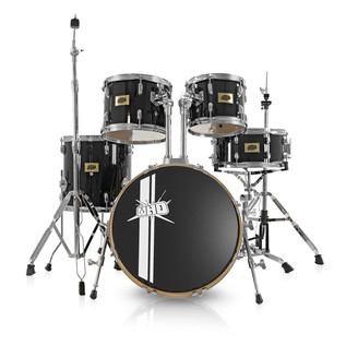 WHD Birch 5-Piece Swing Drum Kit, Black