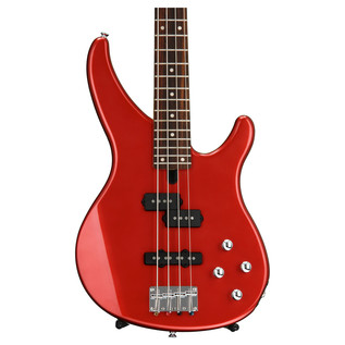 Yamaha TRBX204 4-String Electric Bass Guitar, Bright Red Metallic - Body