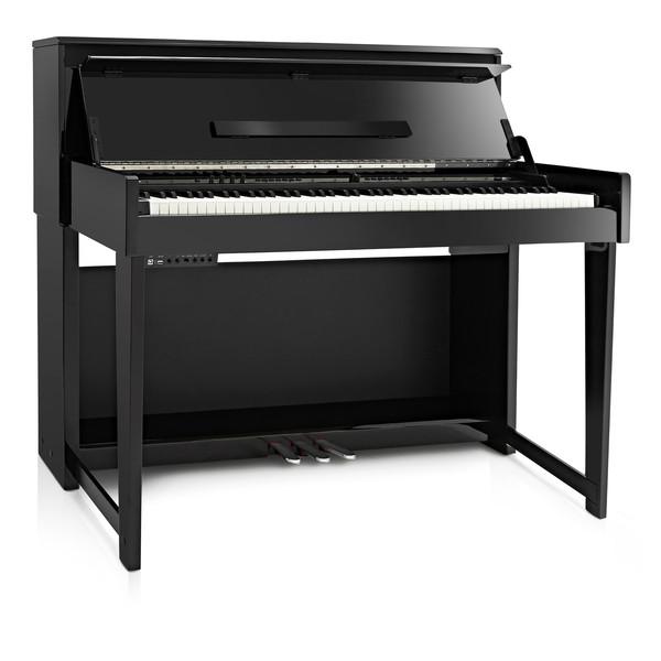 DP-90U Upright Digital Piano by Gear4music, Polished Ebony
