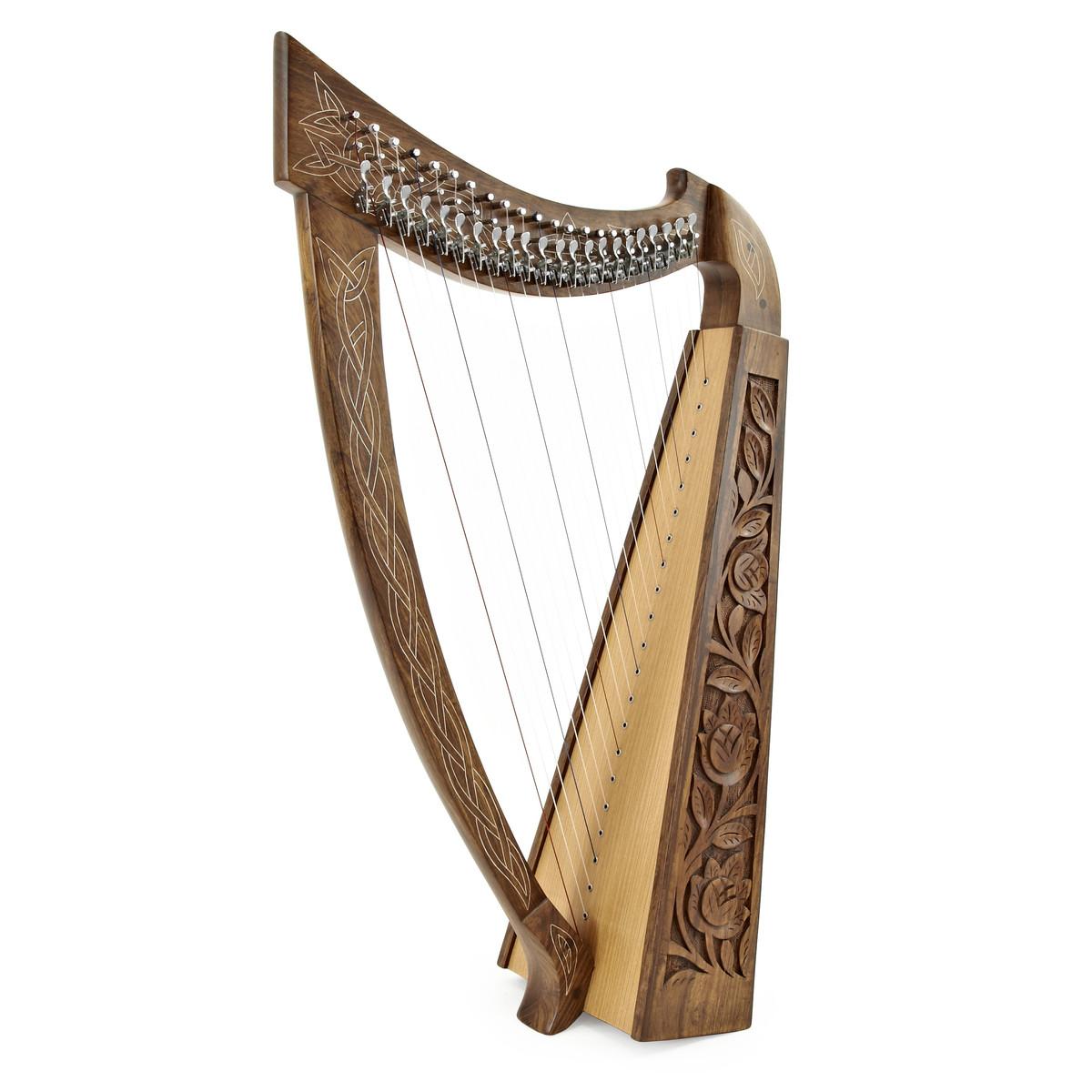 22 string irische harfe mit hebeln von gear4music b. Black Bedroom Furniture Sets. Home Design Ideas