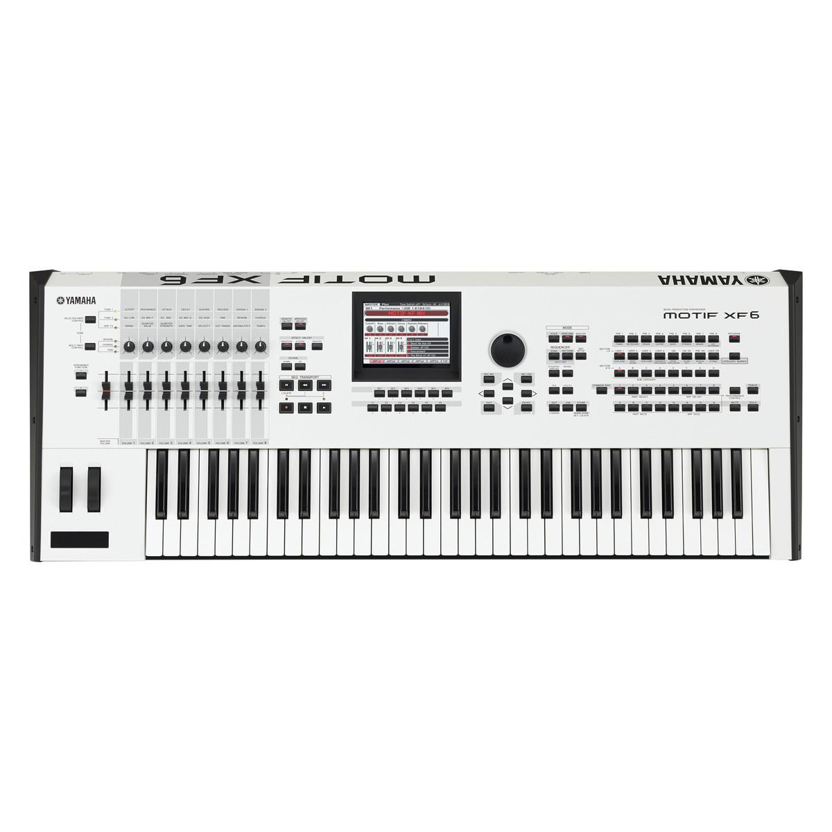Yamaha MOTIF XF6 Keyboard Workstation, Limited Edition White - Ex Demo