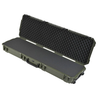 SKB iSeries 5014-6 Waterproof Case (With Layered Foam), Olive Drap - Angled Open
