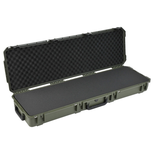 SKB iSeries 5014-6 Waterproof Case (With Layered Foam), Olive Drap - Angled Open 2