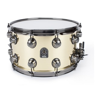 Natal 100% Brass 14x8 Snare Drum w/ Brushed Nickel HW