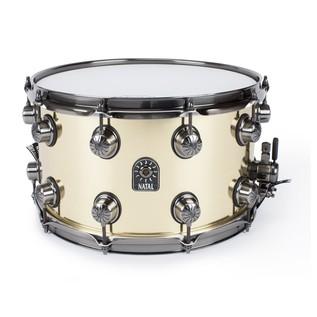 Natal 100% Brass 14x8 Snare Drum w/ Brushed Nickel HW