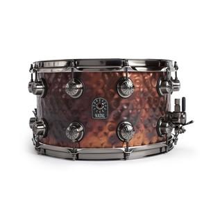 Natal Steel Hammered 14x8 Snare Drum w/ Brushed Nickel HW