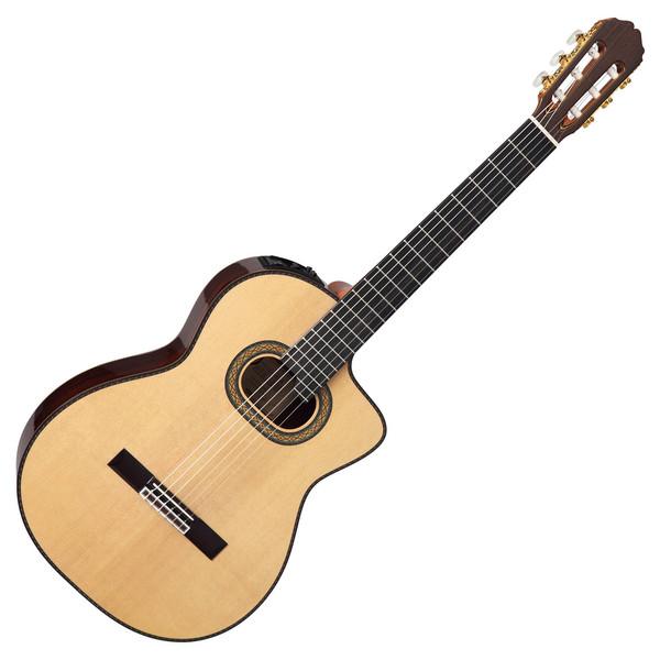 Takamine Pro Series TH90 Hirade Classical Electro Acoustic Guitar, Natural Gloss