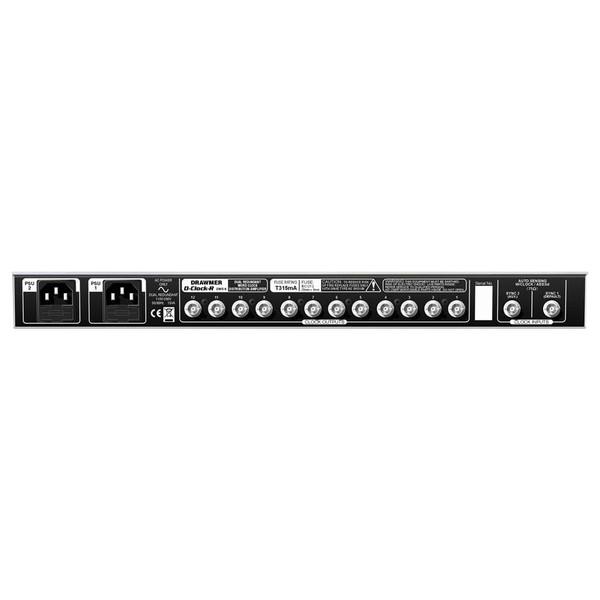 Drawmer DMS-6 D-Clock-r Dual Redundant Wordclock Distribution Amp rear