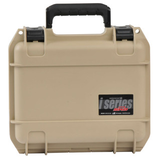 SKB iSeries 0907-4 Waterproof Case (With Layered Foam), Tan - Front Closed