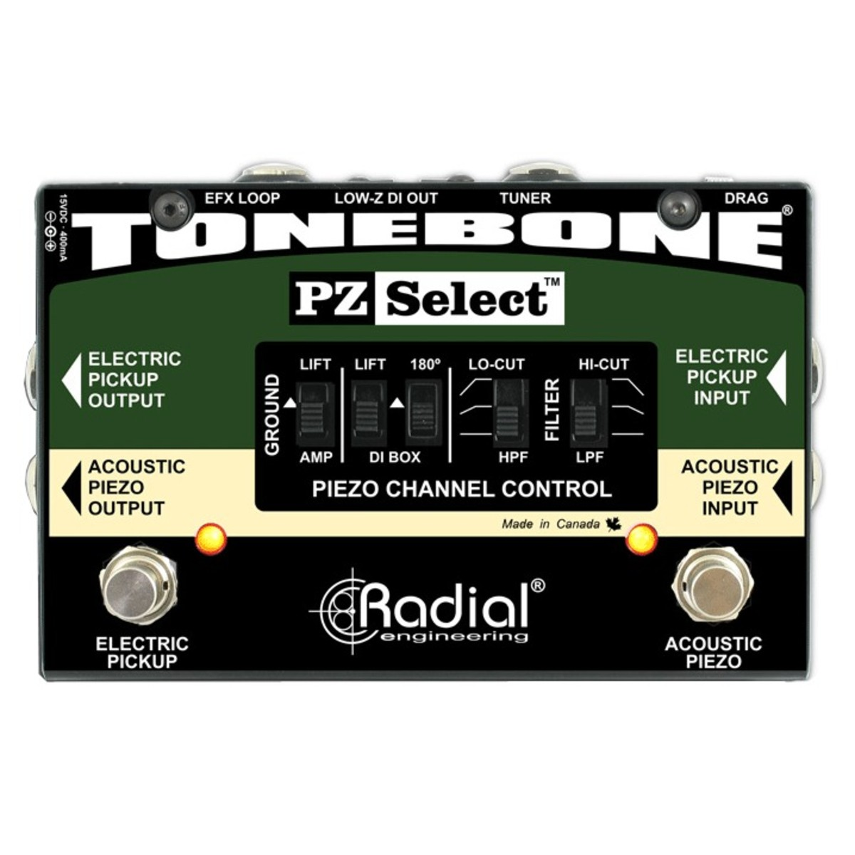Click to view product details and reviews for Radial Tonebone Pz Select Two Channel Instrument Switcher.