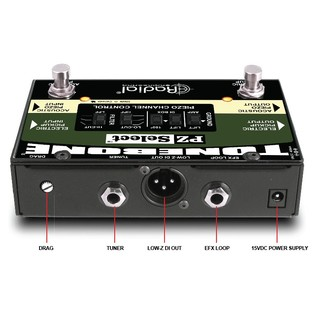 Radial Tonebone PZ-Select Two Channel Instrument Switcher Back