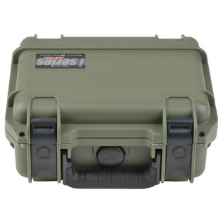 SKB iSeries 0907-4 Waterproof Case (With Layered Foam), Olive Drap - Front Flat