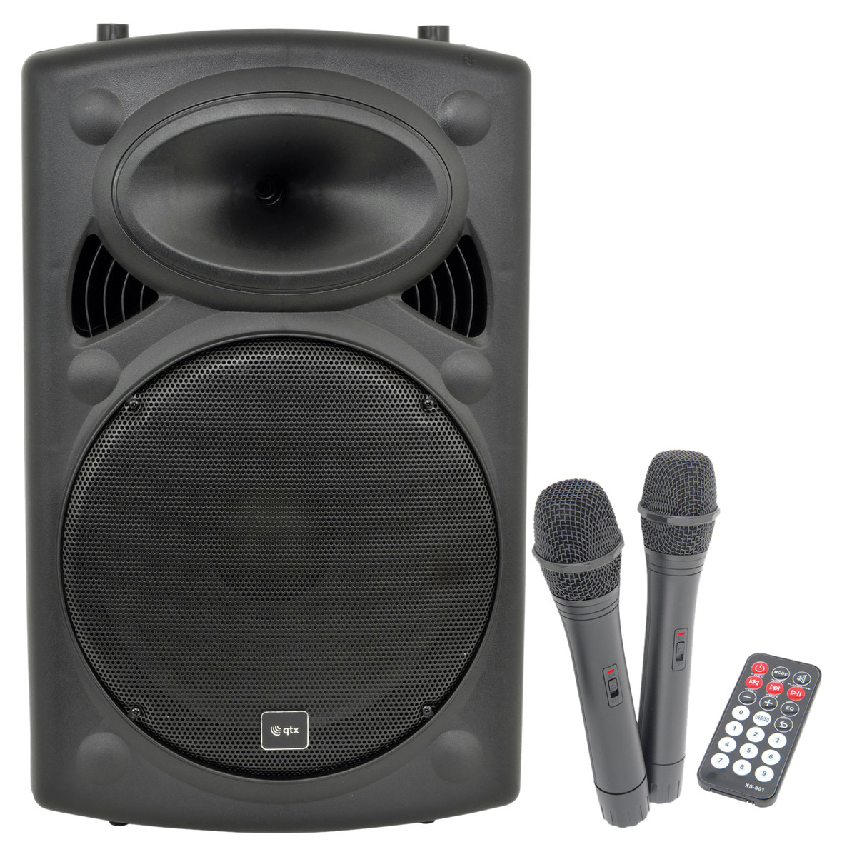 Portable Pa System With Wireless Speakers Wire Center Hi Fi Tone Control Circuit C1815 8211 C945 Qtx Qr15pa Mics At Gear4music Com Rh Sound