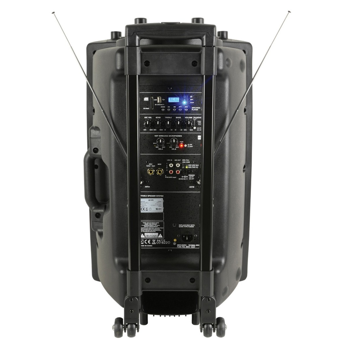 qtx qr15pa portable pa system with wireless mics at gear4music. Black Bedroom Furniture Sets. Home Design Ideas