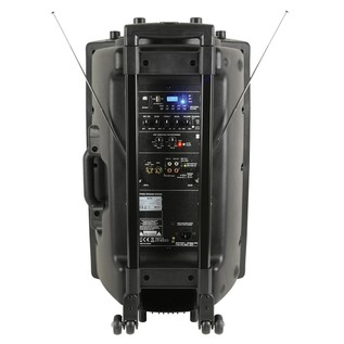 QTX QR15PA Portable PA System with Wireless Mics, Rear