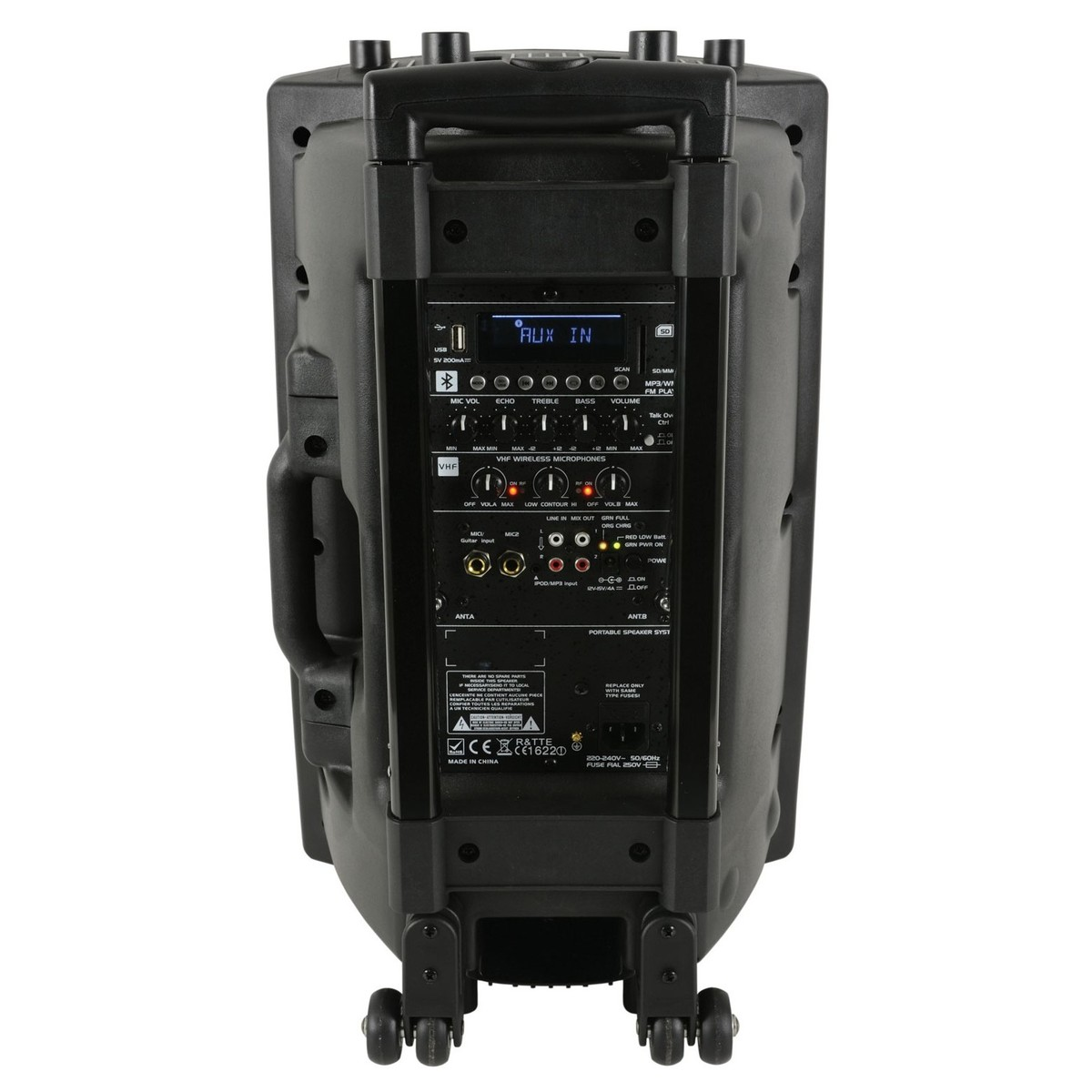 qtx qx15pa portable pa system with bluetooth at gear4music. Black Bedroom Furniture Sets. Home Design Ideas