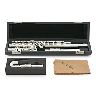 Pearl 505EUS Quantz Flute with Curved and Straight Headjoints