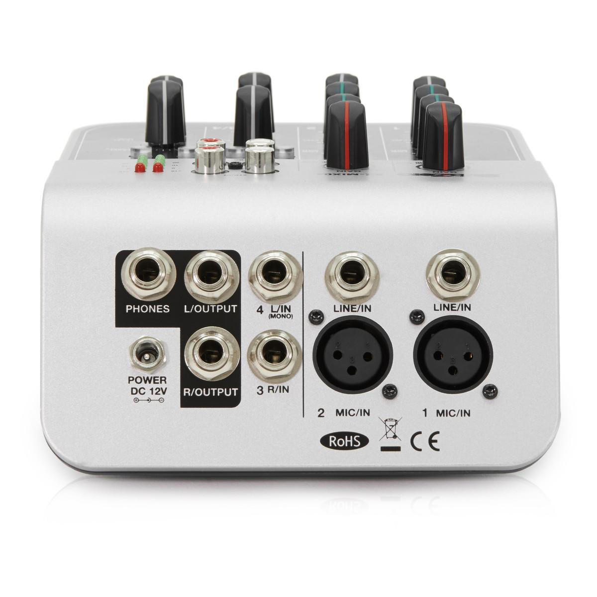 subzero sz mix04 4 channel mini mixer by gear4music b stock at rh gear4music com