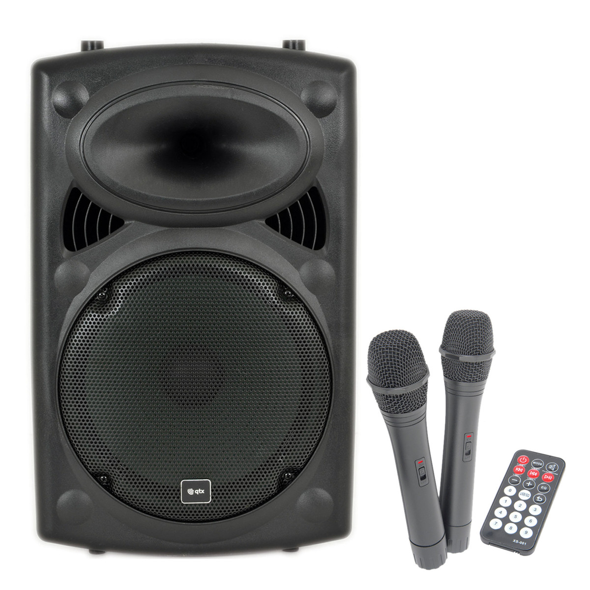 qtx sound qr12pa portable pa system with wireless mics b stock at gear4music. Black Bedroom Furniture Sets. Home Design Ideas