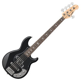 Yamaha BB1025X 5-String Bass Guitar, Black - Front Angled