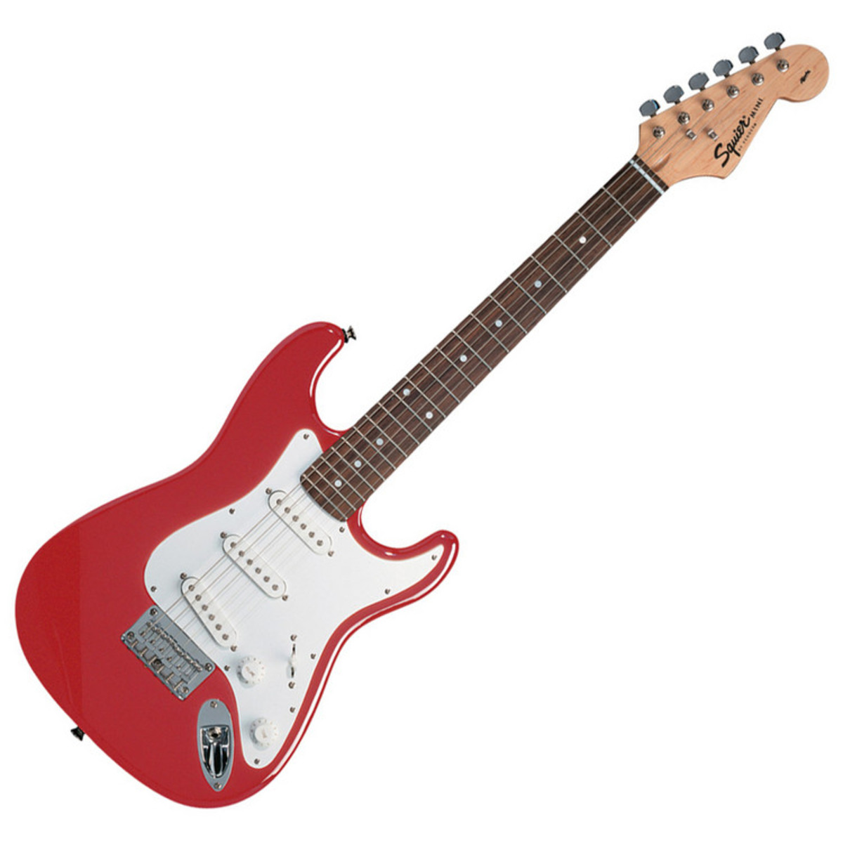 squier by fender mini strat 3 4 size electric guitar red b stock at gear4music. Black Bedroom Furniture Sets. Home Design Ideas