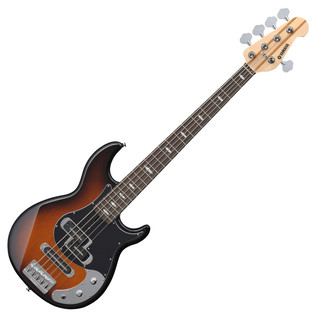 Yamaha BB1025X 5-String Bass Guitar, Tobacco Brown Sunburst - Front Angled