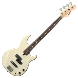 Yamaha BB424 4-String Bass Guitar, Vintage White - Front Angled