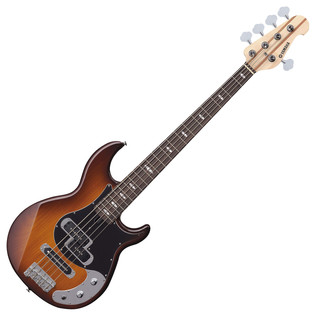 Yamaha BB425X 5-String Bass Guitar, Tobacco Brown Sunburst - Front Angled