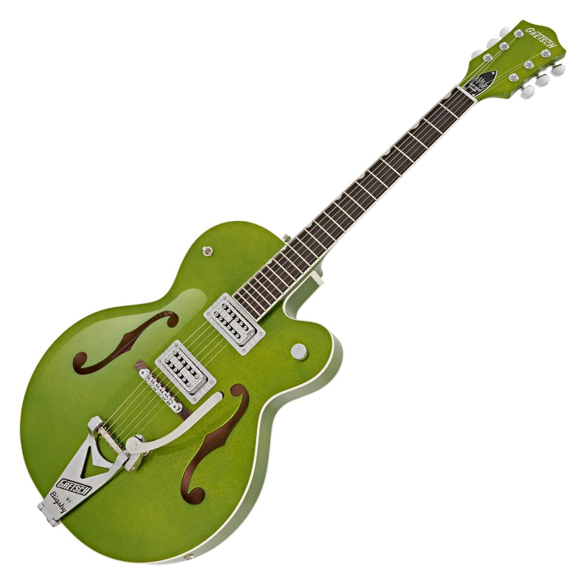 gretsch g6120sh brian setzer hot rod guitar green sparkle at. Black Bedroom Furniture Sets. Home Design Ideas