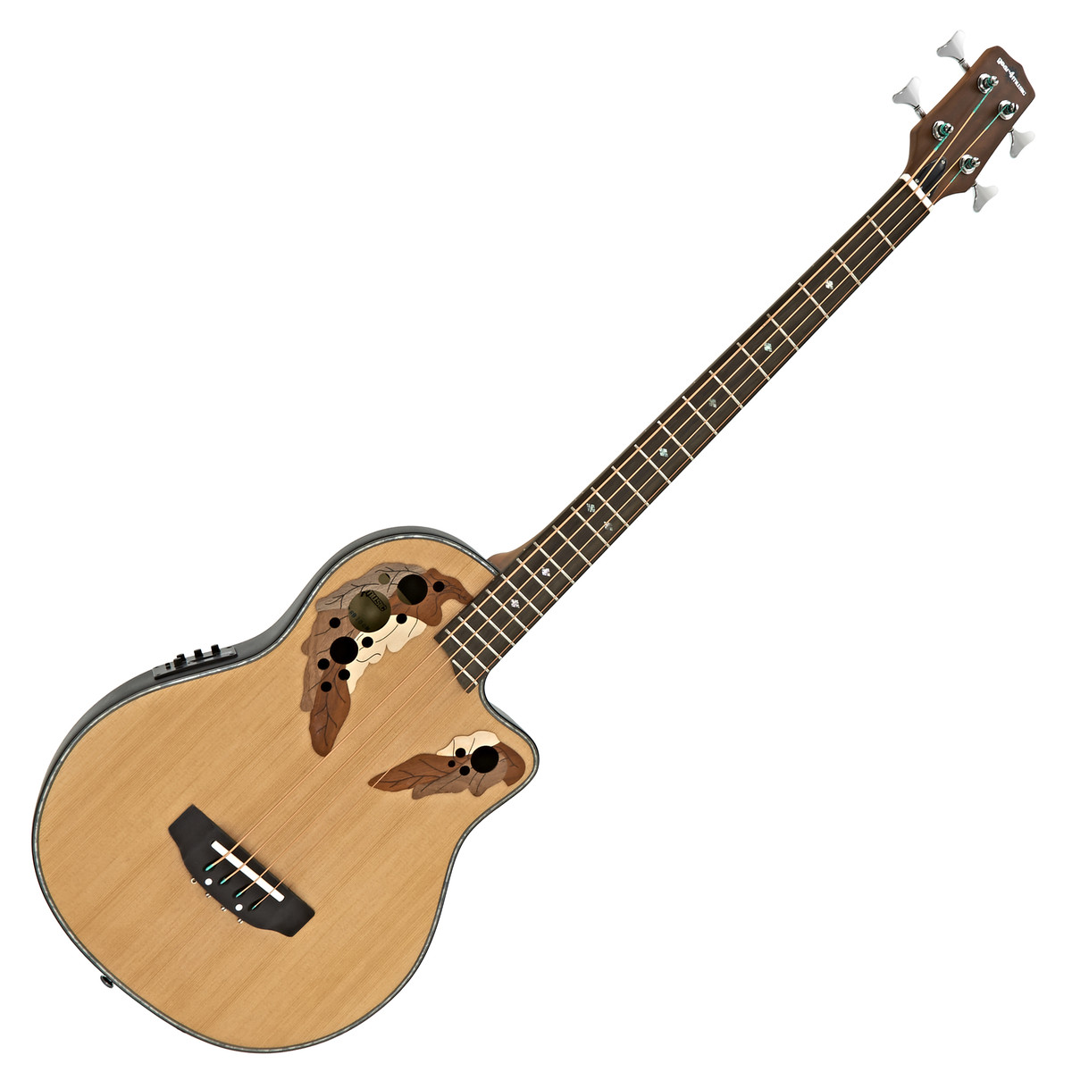 roundback electro acoustic bass guitar by gear4music b stock at gear4music. Black Bedroom Furniture Sets. Home Design Ideas