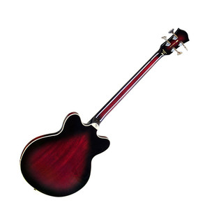 Hofner HCT Verythin Bass, Dark Cherry Back